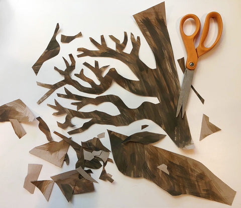 Cut out tree and scissors