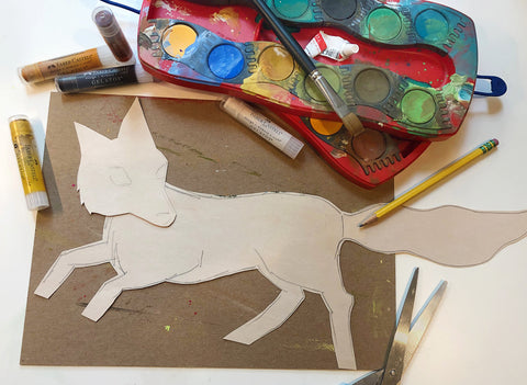 Cut out fox and Connector Paints