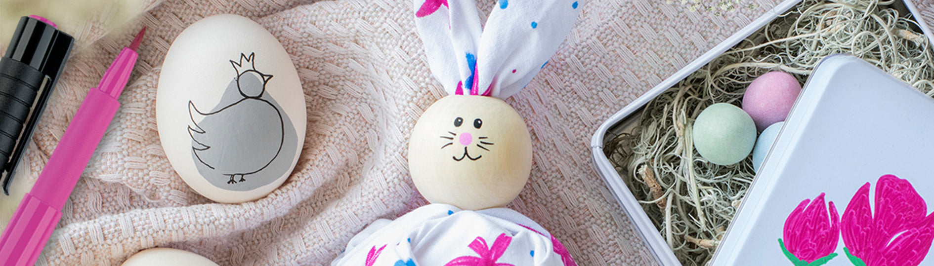 Easter Bunny and Egg Art
