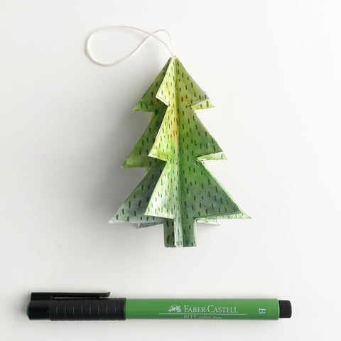 Christmas tree ornament and Pitt Artist Pen