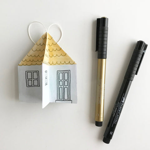 House ornament and Pitt Artist Pens
