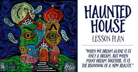 Halloween Art Lesson - Draw a Haunted House