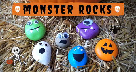 Monster Face Rock Craft for Kids