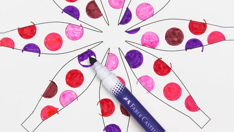 Paper flower with marker