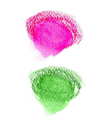 Pink and green color swatches