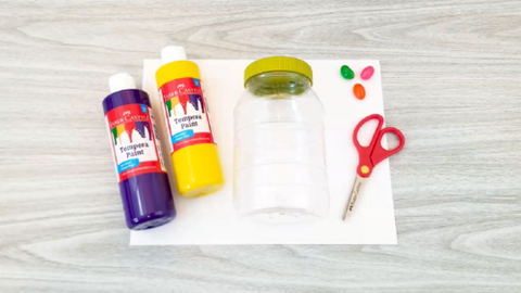 Paint Splatter Easter Egg Craft Supplies