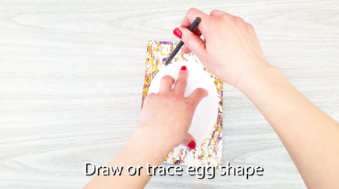 Trace or draw egg shape