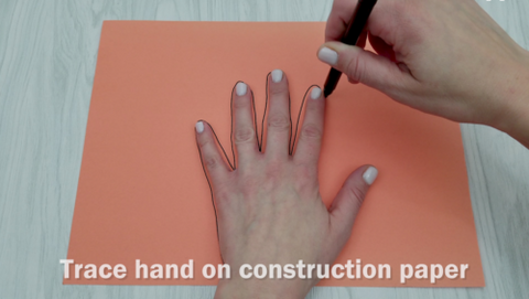 Hand Tracing on Construction Paper