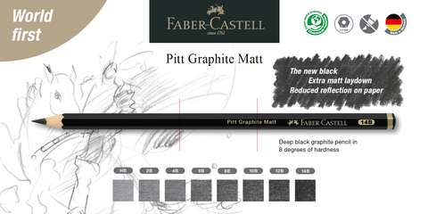 Pitt Graphite Matte Pencil and degrees of hardness