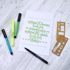 Pitt Artist Pen Journaling Set with hand lettered art
