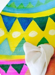 Easter egg craft with cloth