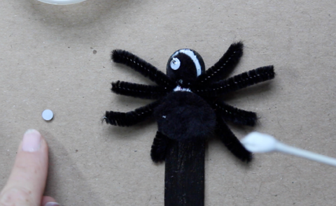 Spider Bookmark and Cotton Swap