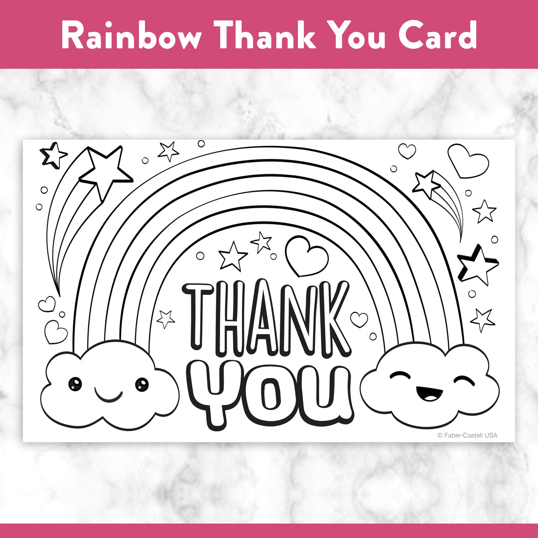 Printable Coloring Thank You Cards - Faber-Castell USA