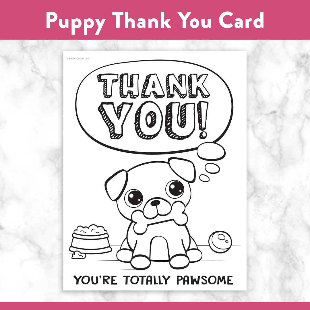 Printable Coloring Thank You Cards Faber Castell Usa