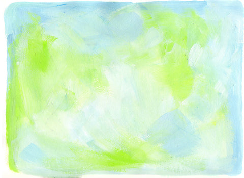 Blue and Green Painted Paper