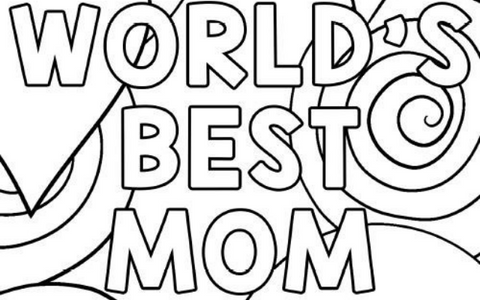 Worlds Best Mom Coloring Page
