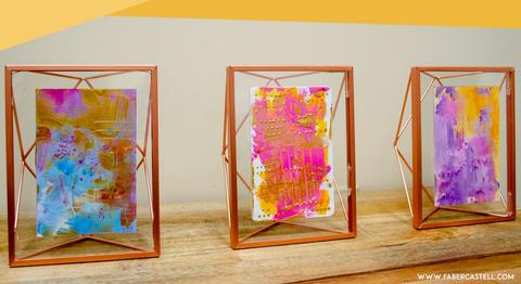 Abstract art in frames