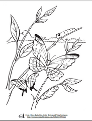 Butterfly Kids Coloring Page