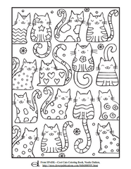 Cat Kids Coloring Page