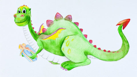 Draw a Watercolor Dragon for Kids