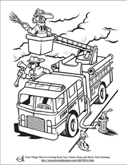 Fire Truck Kids Coloring Page