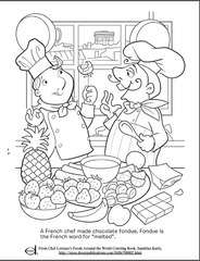 Fondue Chef Kids Coloring Page