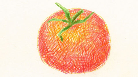 Tomato with cross hatching