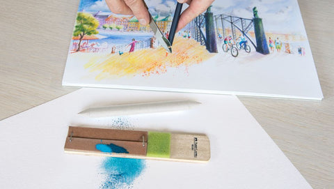 Sketch with sanding board