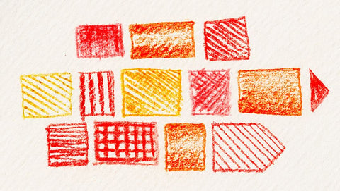Yellow, red, and orange shapes