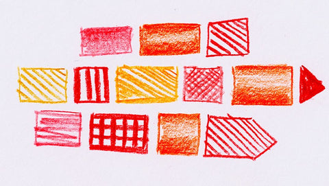 Red, orange, and yellow shapes