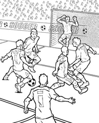 Soccer Kids Coloring Page