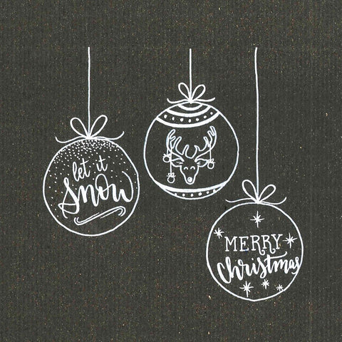 Sketched Christmas ornaments