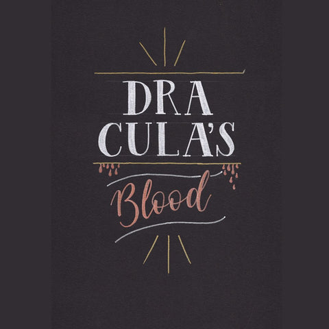 Dracula's blood hand lettering