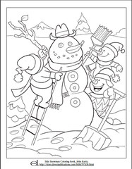 Snowman Kids Coloring Page
