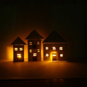 Lit Up LED Tea Light House Christmas Craft