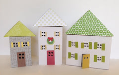 Christmas Craft for Kids - Upcycled LED Tea Light Houses