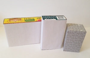 Three Paper Wrapped Grocery Boxes