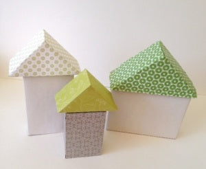 Three Cardboard Houses