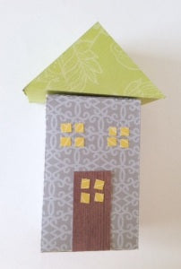 Cardboard LED Tea Light House Christmas Craft