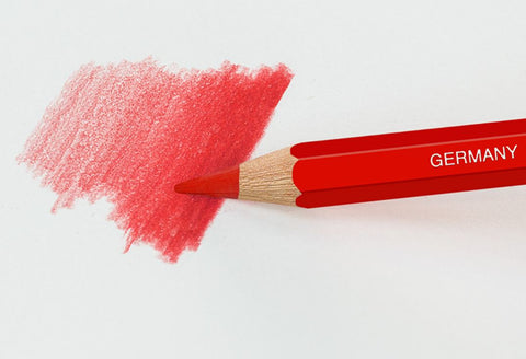 Watercolor pencil with red shading