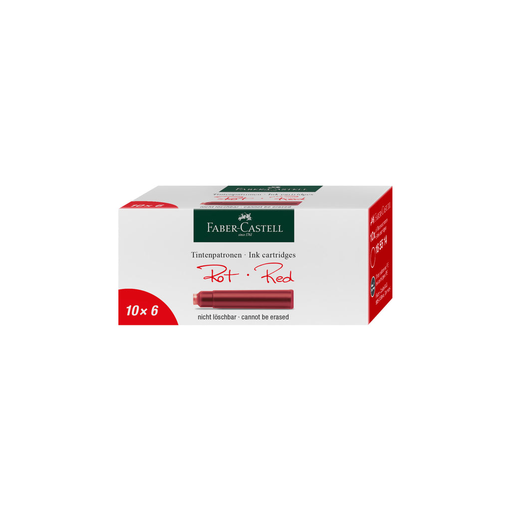 Fountain Pen Ink Cartridges - Red - #185514