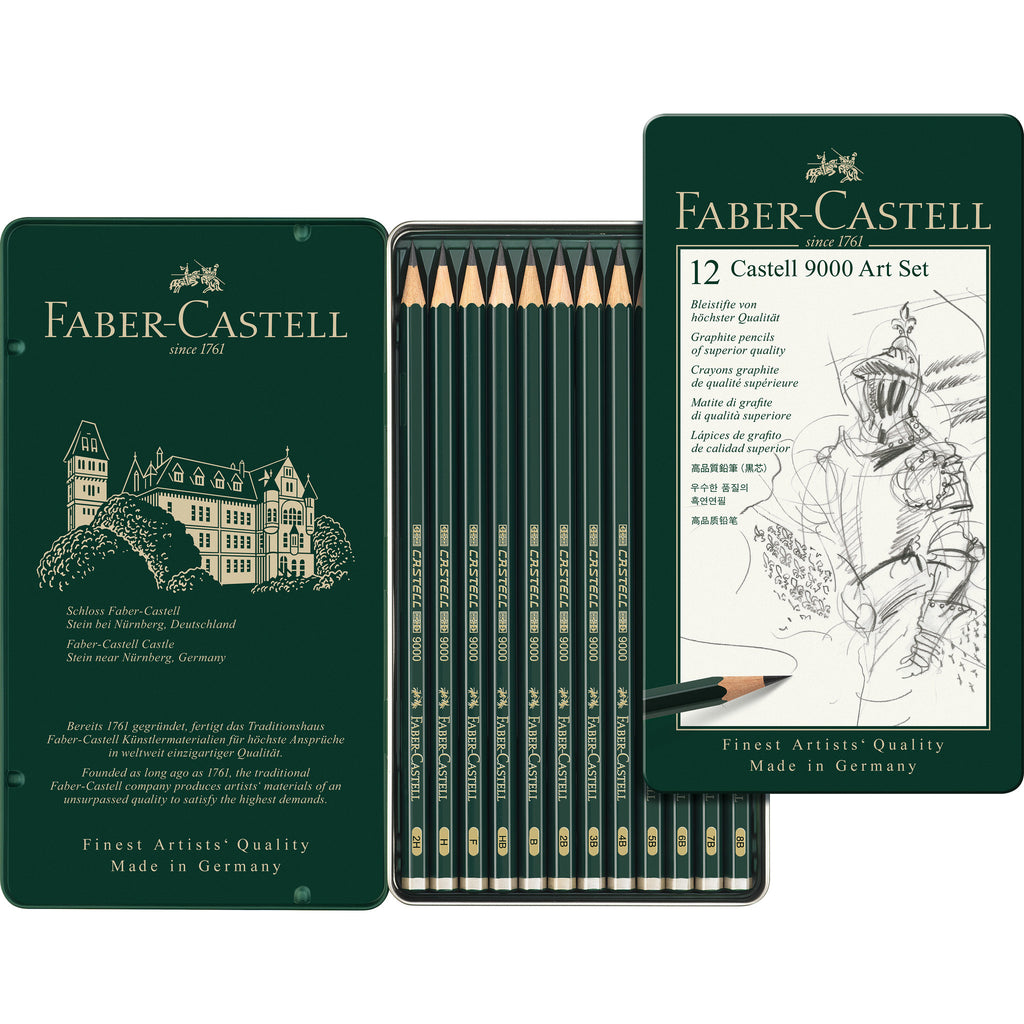 Castell® 9000 Graphite Pencil Art Set - Tin of 12