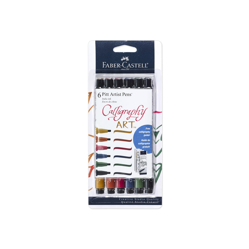 Pitt Artist Pen® Calligraphy - Multi Color 6ct