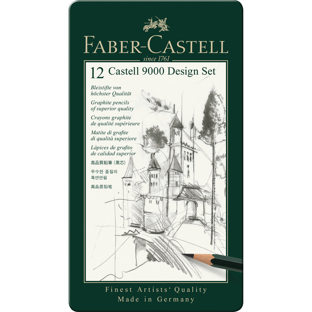 Castell® 9000 Graphite Pencil Design Set - Tin of 12 - #119064
