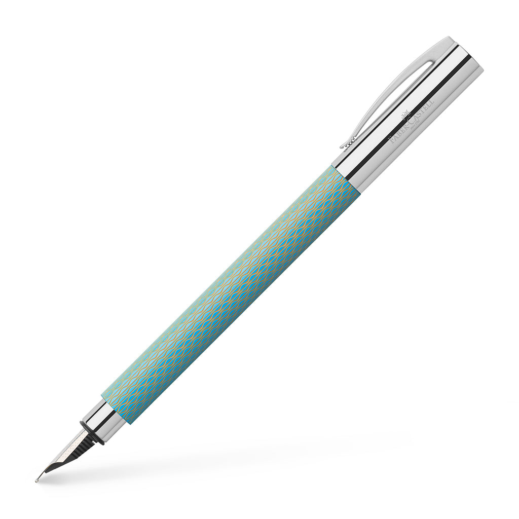 Ambition OpArt Fountain Pen, F - Sky Blue - #147001