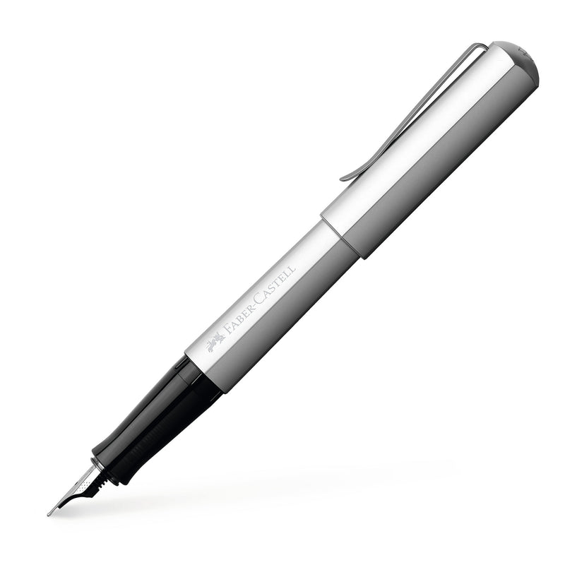 Hexo Fountain Pen, Silver - Fine - #150511