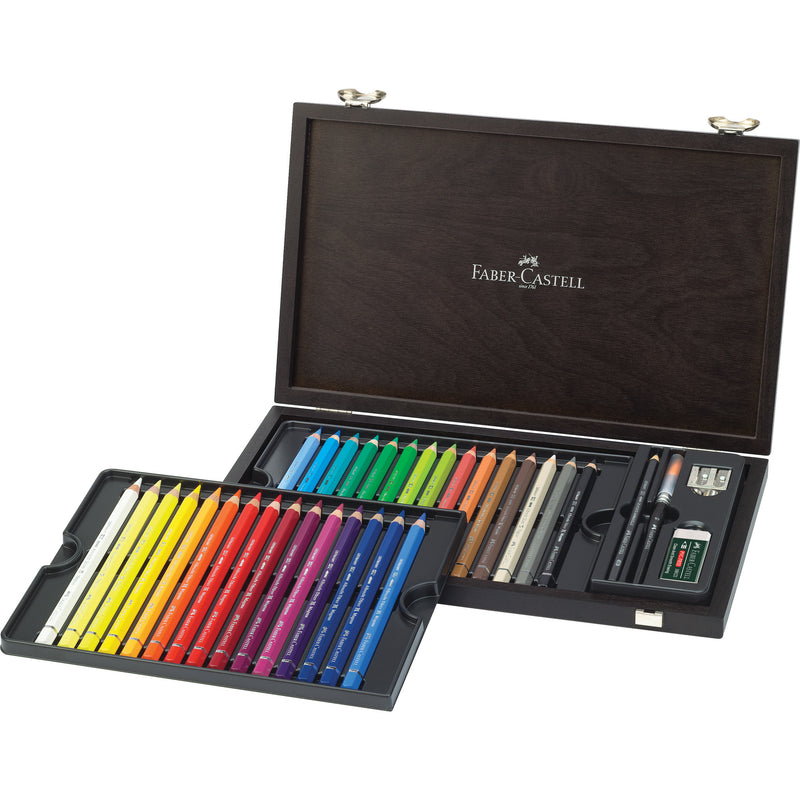 Albrecht Dürer® Magnus Watercolor Pencils - Wood Case of 30 with accessories