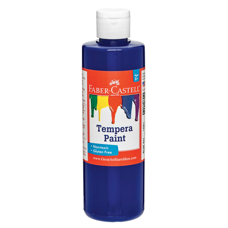 Blue Tempera Paint (8 oz. bottles) - #14561