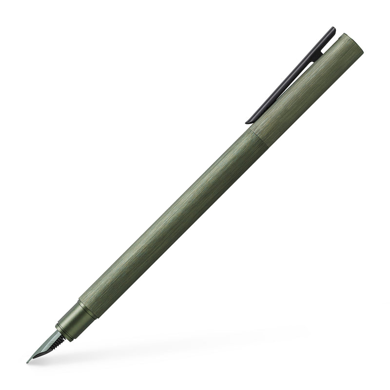NEO Slim Fountain Pen, Aluminum Olive Green - Extra Fine - #146152