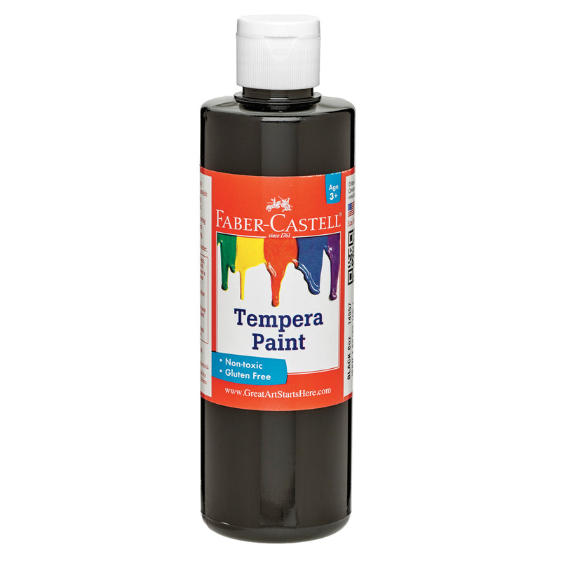 Black Tempera Paint (8 oz. bottles)